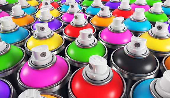 aerosols industrial paint products