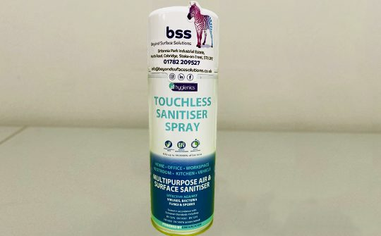 touchless sanitising spray